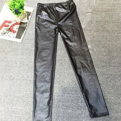 AIGIL - Faux Leather Leggings