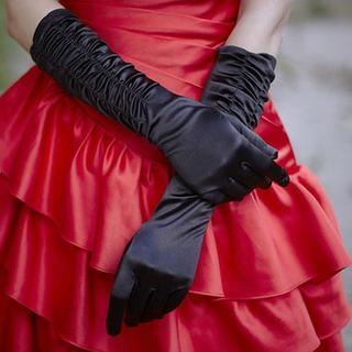 Luxury Style - Pleated Wedding Gloves