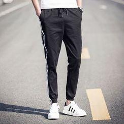 Riverland - 配色邊修身褲