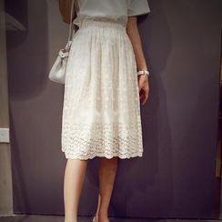 Munai - Lace Midi Skirt
