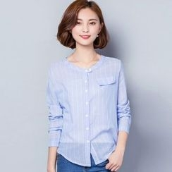 Lovebirds - Long-Sleeve Striped Shirt