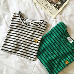Eva Fashion - Stripe Short-Sleeve T-Shirt