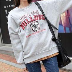 CHICFOX - Drop-Shoulder Printed Sweatshirt