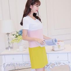 Nyssa - Color-Block Short-Sleeved Tunic