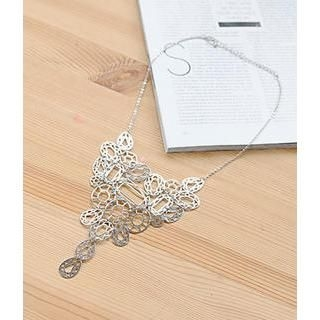 Petit et Belle - Cutout Metallic Necklace