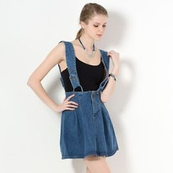 YesStyle Z - Denim Suspender Skirt