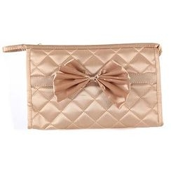 Vechel Bags - Bow Quilted Cosmetic Bag