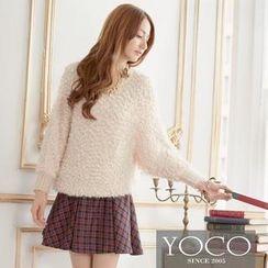 Tokyo Fashion - Dolman-Sleeve Nubby-Knit Top