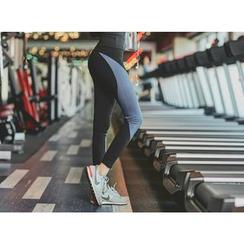 UUZONE - Two-Tone Gym Leggings