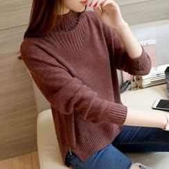 Ageha - Mock Neck Sweater