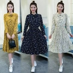 Romantica - Long-Sleeve Floral Dress