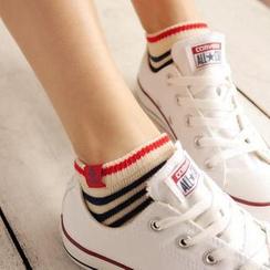 CherryTuTu - Striped Ankle Socks