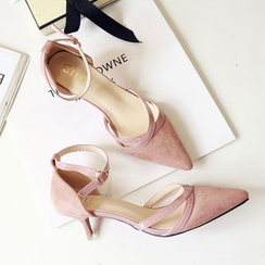 Super ME - Faux-Suede High-Heel Sandals