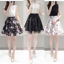 EFO - Mock Two-Piece Sleeveless Dress