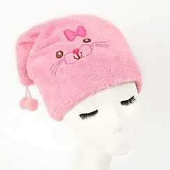BEANS - Animal Coral Fleece Shower Cap