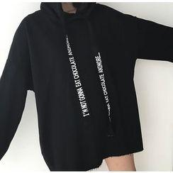 Eva Fashion - 字母抽繩連帽衫