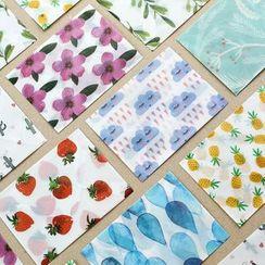雲木良品 - 印花信封形連信紙