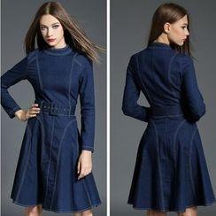 Diosa - Long-Sleeve Denim Dress