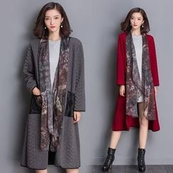 Diosa - Mock Two Piece  Long Jacket