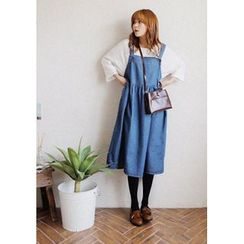 GOROKE - Denim Midi Jumper Dress