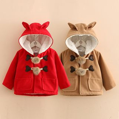 Seashells Kids - Kids Ear Accent Hooded Coat