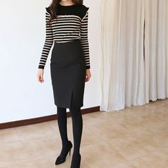 Hello sweety - Slit-Front Pencil Skirt