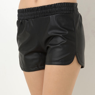 YesStyle Z - Elastic-Waist Faux-Leather Shorts