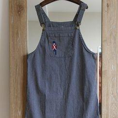 Rosadame - Denim Embroidered Jumper Skirt