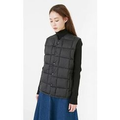 Someday, if - Pocket-Side Snap-Button Padded Vest