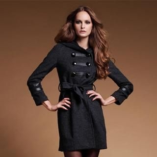 Le Teresa - Tie-Waist Double-Breasted Coat