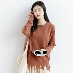 Forest Girl - Fringed Knit Top