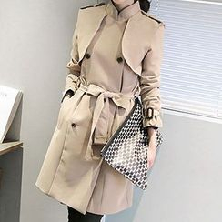 Queen Bee - Double Breasted Trench Jacket