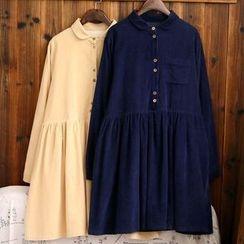 tete - Corduroy Collared Dress