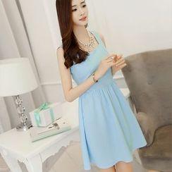 YUMU - Sleeveless Tie Waist Dress