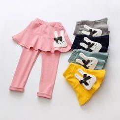 Seashells Kids - Kids Bunny Inset Skirt Leggings