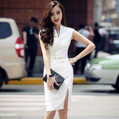 Lovi - 无袖开衩塑身连衣裙