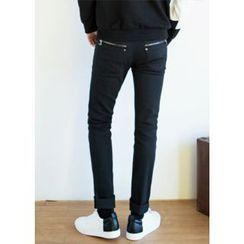 GERIO - Zip-Detail Skinny Pants