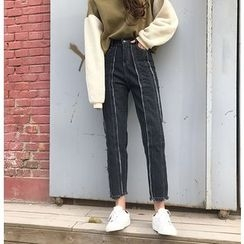 RASA - 散邊直腿牛仔褲