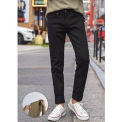 GERIO - Straight-Cut Colored Pants