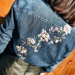 Jack Grace - 刺绣牛仔布衬衫