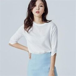 MAGJAY - 3/4-Sleeve Knit Top
