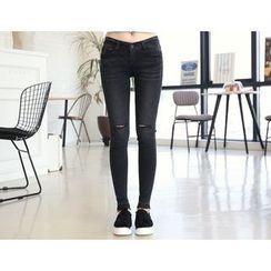 DANI LOVE - Distressed Skinny Jeans