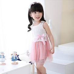 POMME - Kids Embroidered Sleeveless Dress