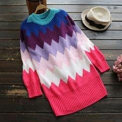 YOYO - 插色毛衣