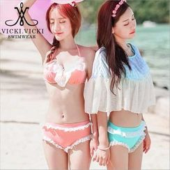 Vicki Vicki - Set: Ruffle Bikini + Cover-Up Top