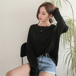 Babi n Pumkin - Drop-Shoulder Long-Sleeve Pullover