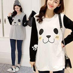 Mamaladies - Panda Print Maternity Tunic