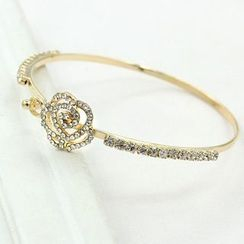 Cheermo - Rhinestone Rose Bangle