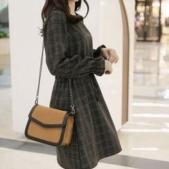 CLICK - Wool Blend Check Dress