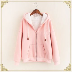 Fairyland - Cat Embroidered Hooded Jacket